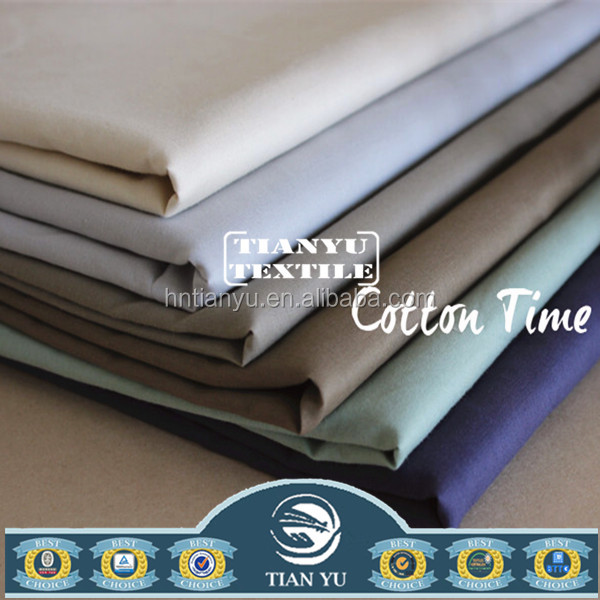 New Development Best Ready Goods Plain Dyed Cotton Woven Shirt Fabric for Wholesale