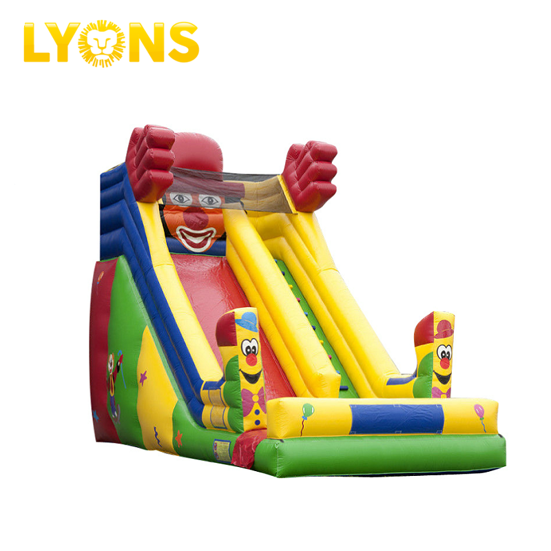 Super Clown inflatable slide Inflatable slip n slide Inflatable water slide with single lane for sale
