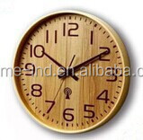 12 inch radio controlled clock wooden frame wall decorative clock