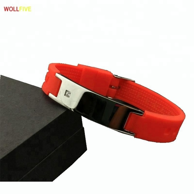 Newest fashion energy silicone bracelets for germanium titanium sports