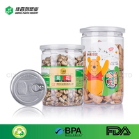 Wholesale food grade clear empty pet Plastic Grip Jars