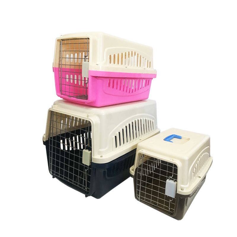 Cat and dog air transport box portable suitcase plastic transportation box