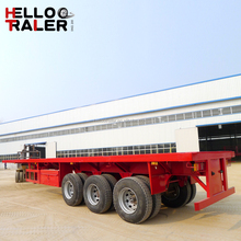 Truck Fleet Transport 3 Axle Flatbed Semi Trailers for Sale