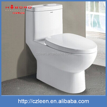 Recyclable high quality siphonic one piece toilets with built-in bidet