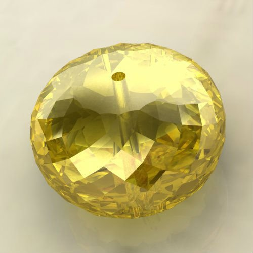 Roundel Shape Synthetic Yellow Sapphire Beads, Lab Created Yellow Sapphire Gemstone Beads, Wholesale Beads