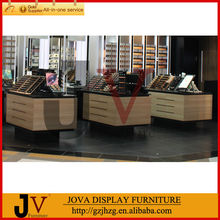 Acrylic display and wooden design perfume cosmetic kiosk