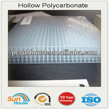 10 mm polycarbonate four wall hollow sheets