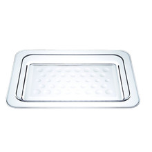 DD 43cm rectangular hard cheap plastic serving tray
