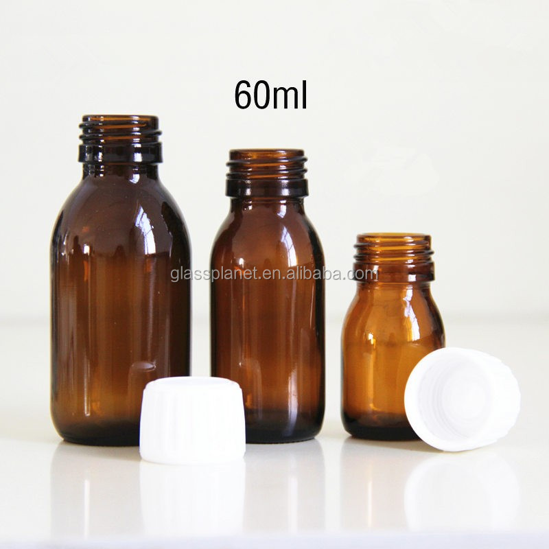 60 ml 2 oz Amber Glass Bottle - for Essential Oils, Extracts & Other Liquids