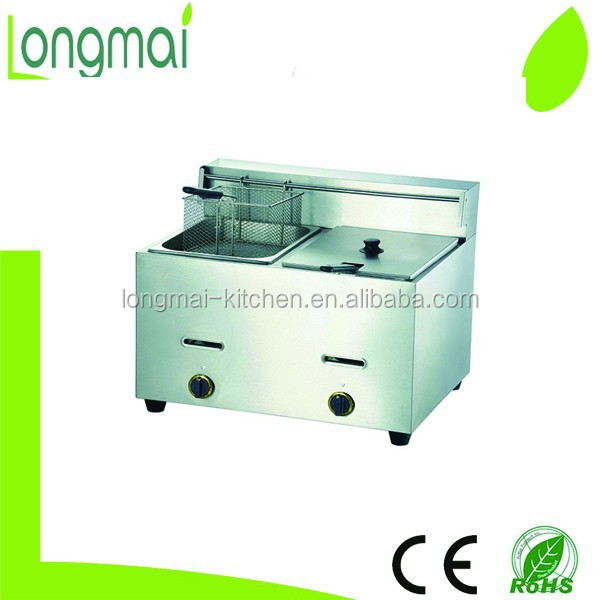Hot selling LGF-72 CE approved stainless steel double tank commercial gas pressure fryer