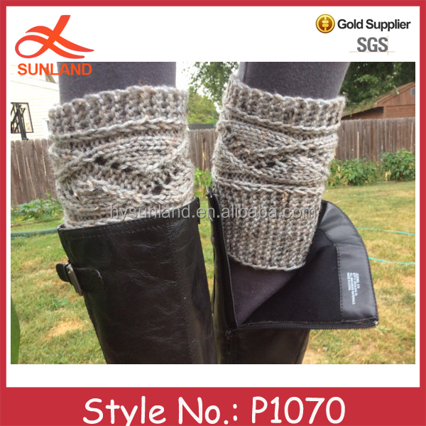P1070 new lady hand knitted boot cuffs toppers wholesale