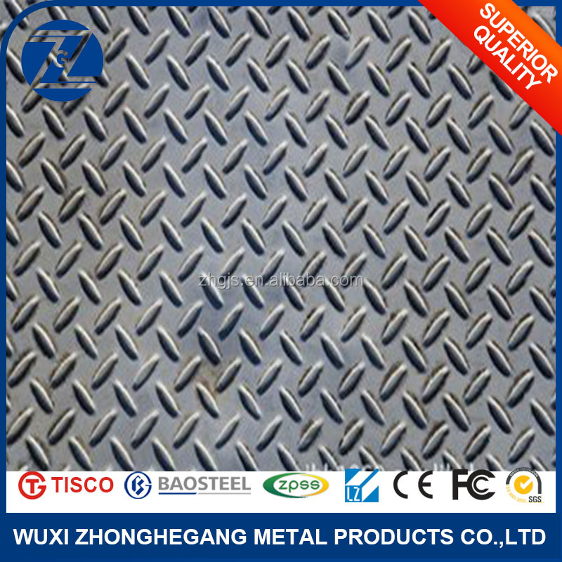 No Hand Imprint Stainless Steel Checkered Plate 304 For Decoration