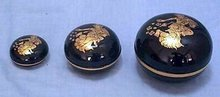 Lacquered Oval Boxes