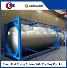 ISO crued oil bitumen tank container with heating system