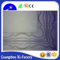 Security paper with water mark,color fiber,security thread