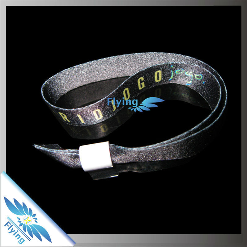 Customized Logo Cheap Festival Handicrafts Made of Fabric Armband