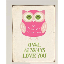 Owl decorative metal craft signs