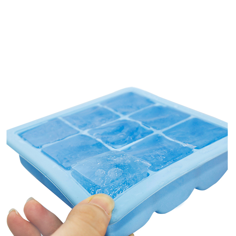 Custom silicone ice cube tray with lid mold