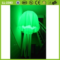 hot sale cheap advertising hanging colorful led inflatable jellyfish balloon