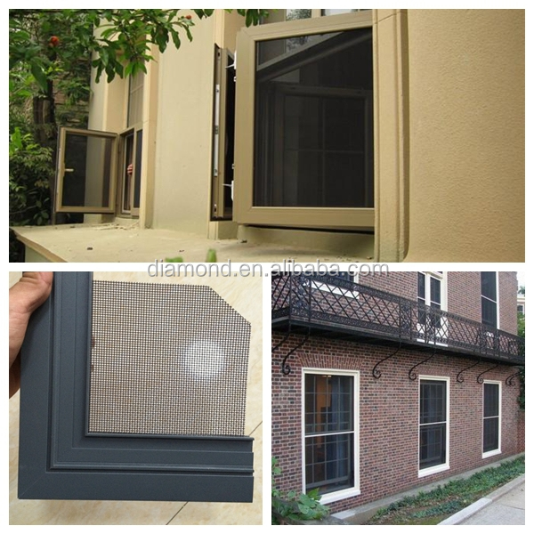 Internal security screens for casement windows diamond for Black diamond motorized screen price