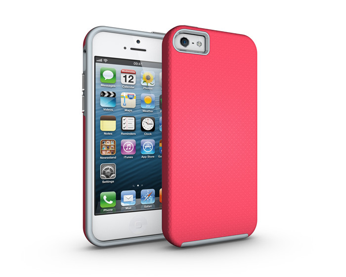Premium Hybrid Rubber Rugged Phone Case for Apple iPhone 5, for iPhone 5 case