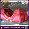 Crazy adult game mini inflatable zip line game for sale