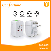 Wholesale Universal World Travel Adapter with 2 usb port charger EU US UK AUS plugs inlets
