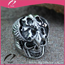 2014 Fashion Crazy Design Biker Skull Ring