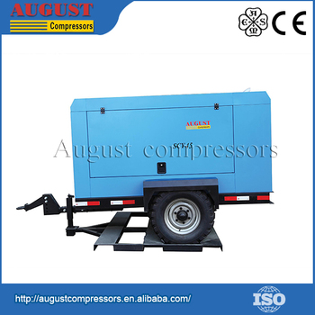 Hot Selling Air cooling Lubricated Portable Screw air compressor