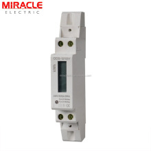 1 Pole small MINI Size DIN Rail Digital kwh Power Meter with RS485 Modbus RTU