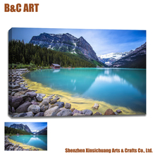 Custom Landscape Photo Printings Supply Cheap Stretched Canvas Prints for Home Decoration