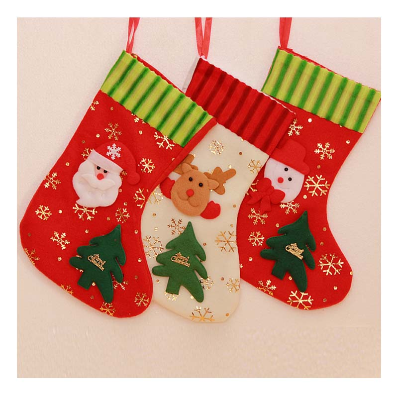 HD2030 Wholesale snow print Christmas socks Christmas gifts decorations
