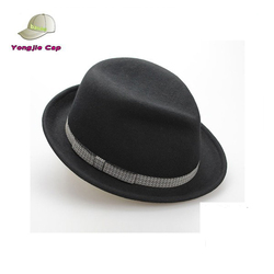 Hot Custom Vintage Fedora Jazz Hats Ribboned with/out feather and sweat band