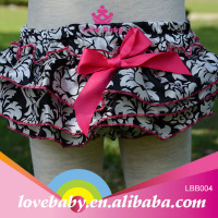 Hot pink cotton grandiflora infant ruffle bloomers