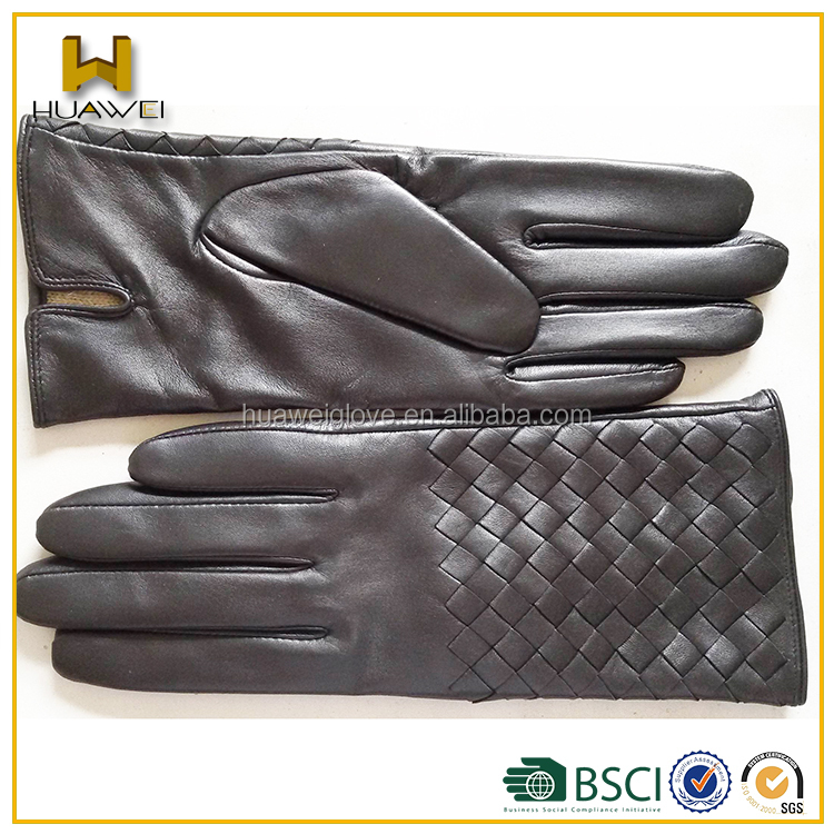 New Design Women Goatskin Nappa Leather Gloves With Radian On Cuff ...