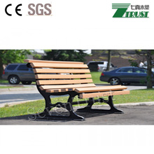 2017 wearable recycled cheap wood plastic composite slats park bench