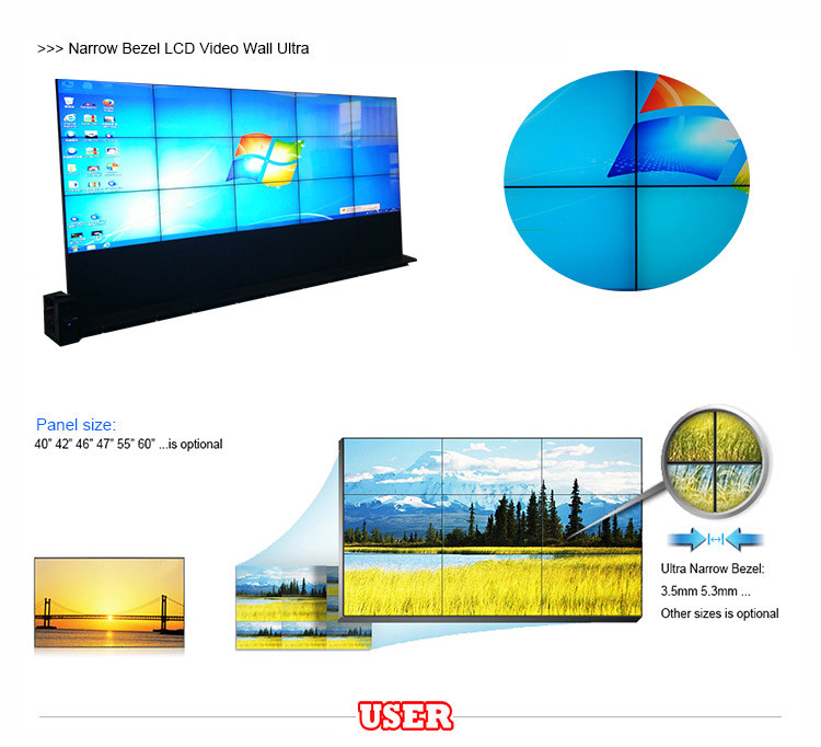 Alibaba's most popular supplier indoor lcd video wall with high brightness