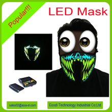 Top fashion neon el mask/light up led mask/party masks with lights