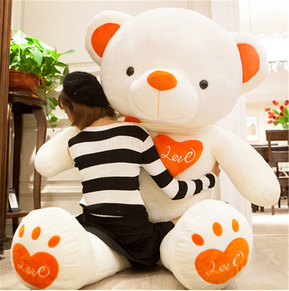 Fancytrader Huge Giant Love Teddy Bears Plush Toys Gifts for Girls Soft Big Stuffed Bears Doll Christmas New Year Valentine's Day Gifts 7