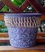 Hot Product Customer Printed Elegant Large Flower Pots For Sale