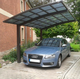 Custom Made free standing aluminium cantilever carport with single slope roof