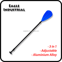 3-piece adjustable aluminum and plastic SUP paddle oar