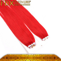 Indian Remy Hair Prebonded Tape In Human Fusion Hair Extensions