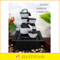polyresin rock art tabletop ornament mini water fountain