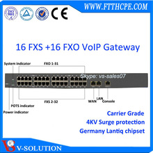 Layer 3 telephone adaptor 16 fxs 16 fxo gateway