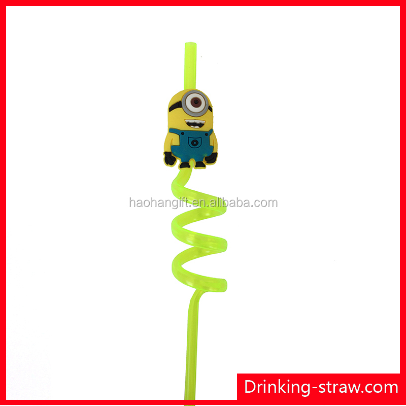 3D cartoon fancy telescope drinking straw