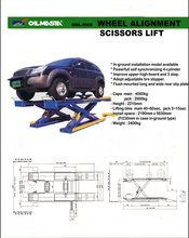 Scissors Lift use for Wheel Alignment
