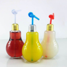 Bulb shape glass drinking bottle yogurt juice beverage bottle