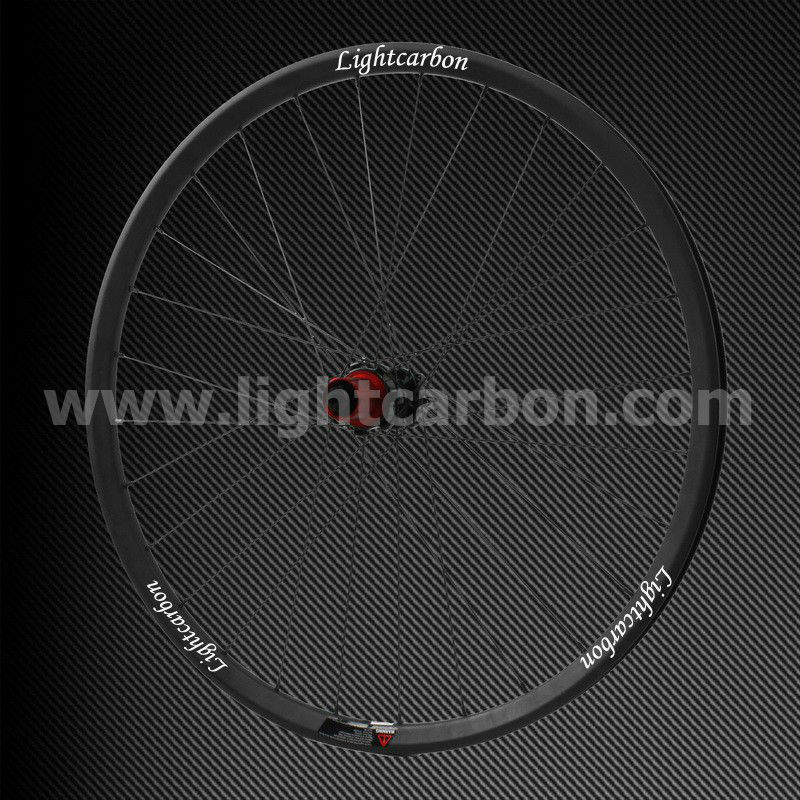 2014 LIGHTCARBON 29ER tubuless MTB carbon wheelset 30mm width Thru-axle AM/XC straight pull OEM mountain bike carbon wheel
