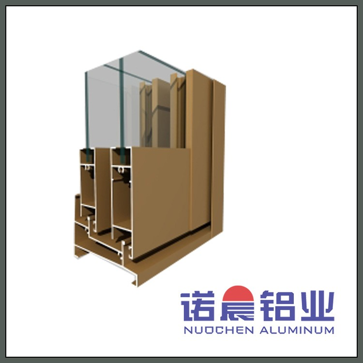 Aluminum Extrusion Profile for Windows with Powder Spraying